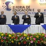 Autoridades en Inauguración de Feria de Educación e Innovación Financiera