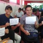 """Participantes de la charla """"Importancia del ahorro"""", INJUVE Mejicanos, miércoles 24 de octubre de 2018."""