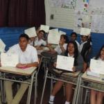 Alumnos de tercer año de Bachillerato del Instituto José Damián Villacorta.
