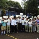 162 alumnos del Instituto José Damián Villacorta culminaron capacitación en educación financiera brindada por la SSF.