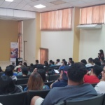 """SSF brinda ponencia sobre """"Como opera el Mercado de Valores"""", en Primer Congreso de Estudiantes de Ciencias Económicas de la Universidad Don Bosco (UDB), jueves 25 de octubre de 2018."""