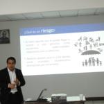 """""""El ABC de los seguros"""", fue la charla facilitada por el Lic. Roberto Roldán, de la Asociación Salvadoreña de Seguros (ASES), jueves 8 de noviembre de 2018."""