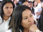 96 Estudiantes del Instituto Nacional 14 de Julio de San Francisco Gotera, en Morazán, recibieron charla de educación financiera sobre el ahorro impartida por FEDECREDITO y gestionada por la SSF, el miércoles 27 de febrero de 2019.