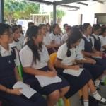 SSF y FSV brindan educación financiera a jóvenes beneficiarios del Programa Empresarial Supérate de la Fundación Poma, el día miércoles 6 de febrero de 2019.