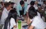 """74 Alumnos de Tercer Año de Bachillerato, Opción Contador, del Centro Escolar Walter Soundy, ubicado en Santa Tecla, La Libertad, recibieron la charla de educación financiera """"Cómo elaborar un presupuesto, diferencias entre ahorro e inversión"""", impartida por Ítalo Ferrufino, pasante de la Superintendencia del Sistema Financiero (SSF). Miércoles 6 de marzo de 2019."""