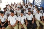 76 Alumnos de Bachillerato en diferentes especialidades recibieron educación financiera impartida por el Lic. Norman Grande, representante de BANCOVI y gestionada por la SSF. Martes 12 de marzo de 2019.