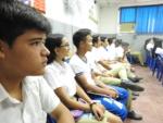 205 alumnos de bachillerato del Instituto Nacional de Aguilares fueron capacitados por la SSF, en el tema de Presupuesto, brindado por Joselyn Villalta Jiménez, el viernes 15 de marzo de 2019.