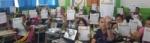 """Representantes del Banco Hipotecario y de la SSF impartieron el tema """"Como elaborar un presupuesto, diferencia entre ahorro e inversión"""", a 69 estudiantes de 3er. año de Bachillerato Opción Contador del Instituto Nacional de Usulután. 7 de marzo de 2019."""