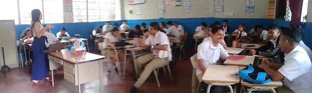 SSF brindó talleres financieros a estudiantes del instituto nacional el paraíso de Chalatenango e instituto nacional José Damián Villacorta en Santa Tecla. San Salvador, 25 de abril de 2019.